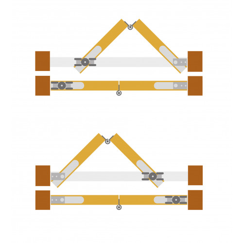 Tommafold Interior Top Hung Sliding Door Kit, 2 panels
