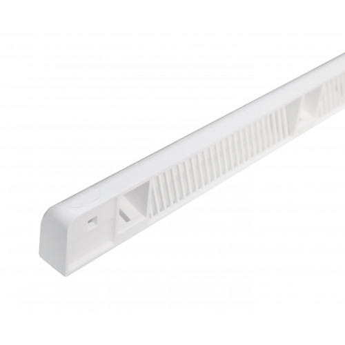 267Mm Plastic S13 Curved Canopy, White